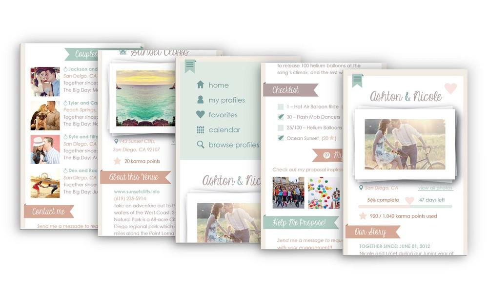 Mia Sara Design Studio: Something Borrowed App - Screens
