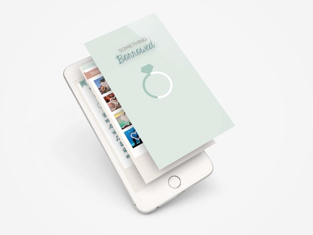 Mia Sara Design Studio: Something Borrowed App - Login Screen