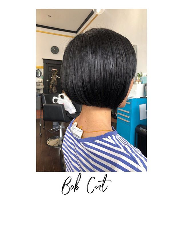A beautiful bob haircut by @kayscosmo