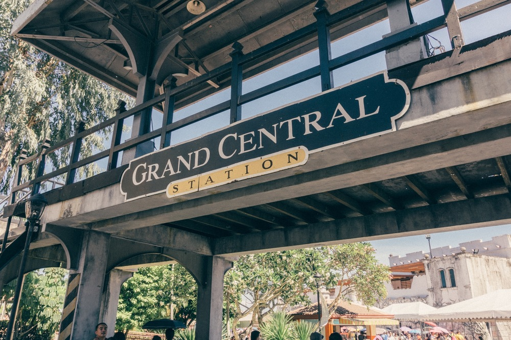 The mock up of the Grand Central Station