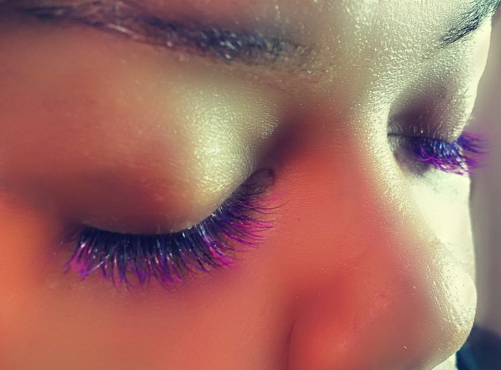 Color Eyelash Extensions