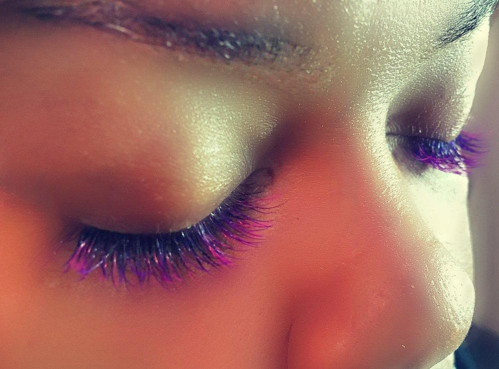 Color Eyelash Extensions