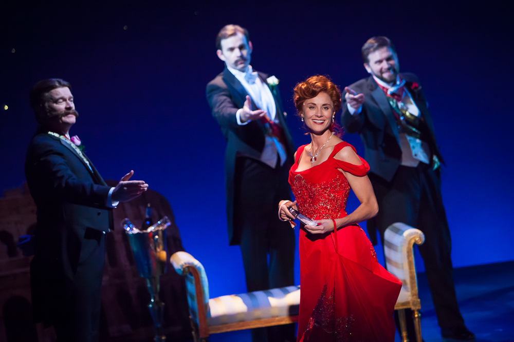 Beth Malone and company in Denver Center Theatre Company's 2014 revival of UNSINKABLE MOLLY BROWN. Production Photographer Jennifer Koskinen | Merritt Design Photo