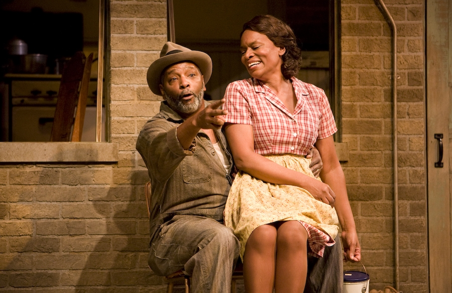 David Alan Anderson and Kim Staunton in FENCES at the Denver Center Theatre Company. Production Photographer Jennifer Koskinen | Merritt Portrait Studio