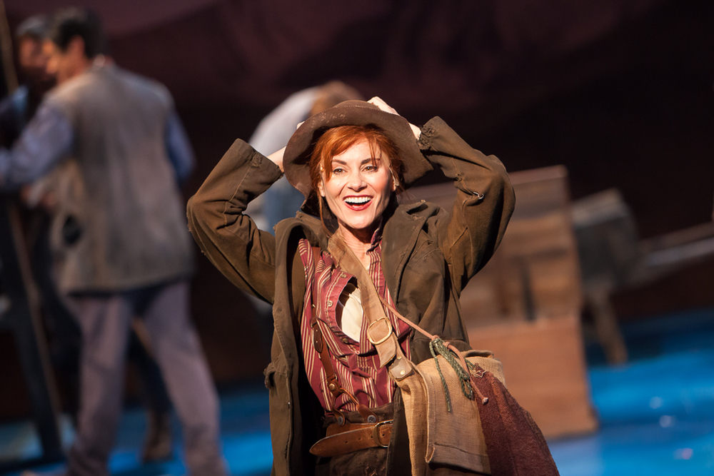 TONY AWARD nominee, Beth Malone stars in Denver Center Theatre Company's 2014 revival production of UNSINKABLE MOLLY BROWN. Production Photographer Jennifer Koskinen | Merritt Design Photo