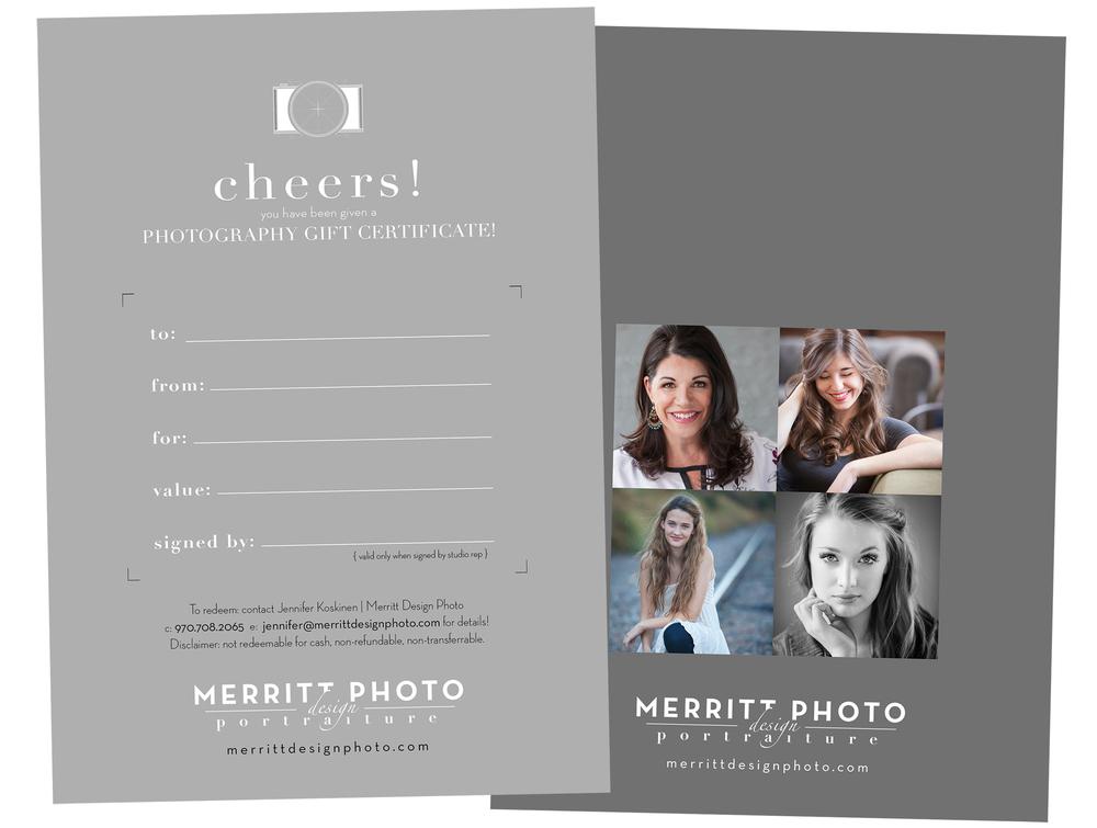 gift certificate | merritt portrait studio denver