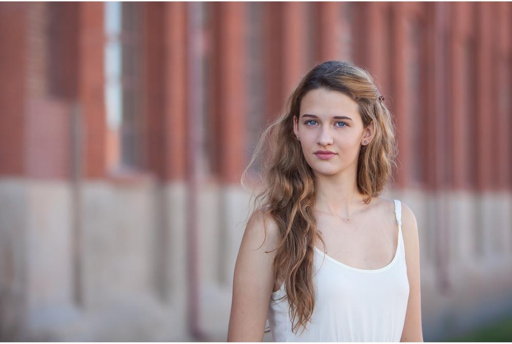 high school senior photo session at historic cotton mill studio in denver | photographer jennifer koskinen | merritt portrait studio