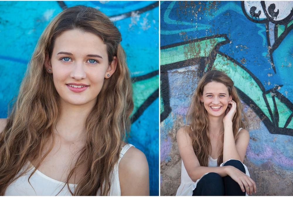 high school senior pictures with graffiti paint wall in denver | photographer jennifer koskinen | merritt portrait studio