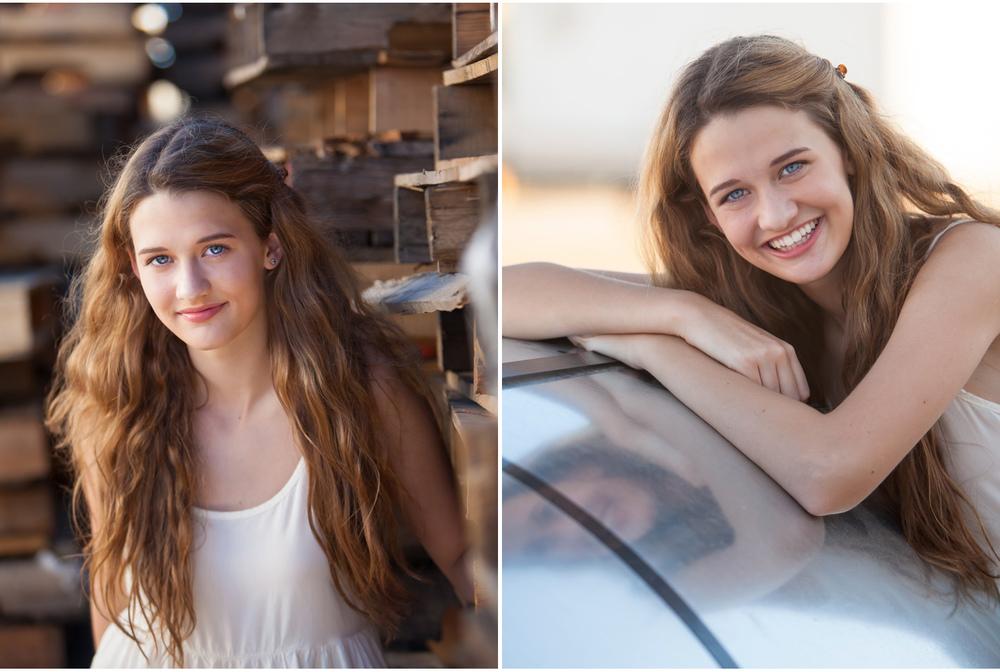 high school senior on location at industrial shop yard in denver | photographer jennifer koskinen | merritt portrait studio