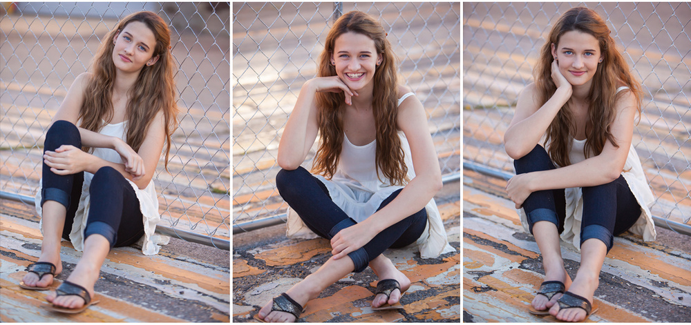 high school senior photo session in denver on painted pavement with chainlink fence | photographer jennifer koskinen | merritt portrait studio