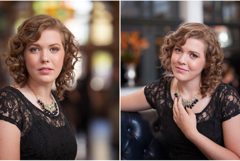 Vintage looking High School Senior Pictures at Union Station Denver, with photographer Jennifer Koskinen | Merritt Portrait Studio