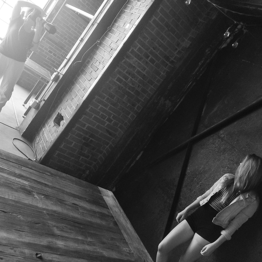 behind the scenes on high school senior portrait session at Blanc with Denver photographer Jennifer Koskinen | Merritt Portrait Studio