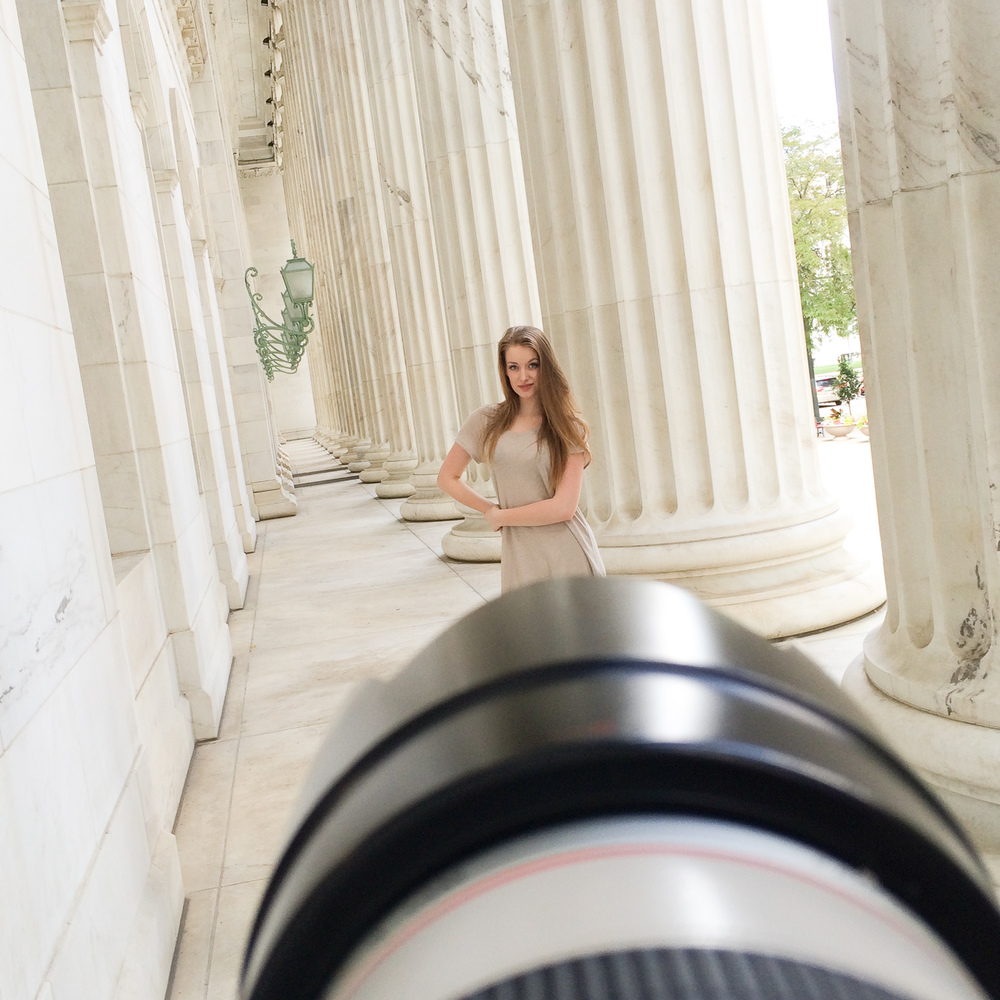 Behind the scenes at the courthouse on urban high school senior session in Denver with portrait photographer Jennifer Koskinen | Merritt Portrait Studio