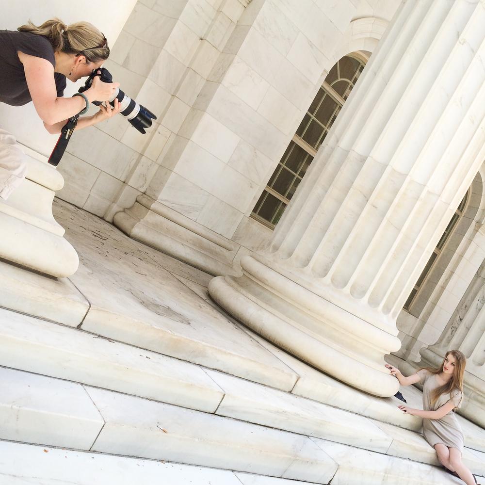 Behind the scenes: urban high school senior pictures in Denver with portrait photographer Jennifer Koskinen | Merritt Portrait Studio