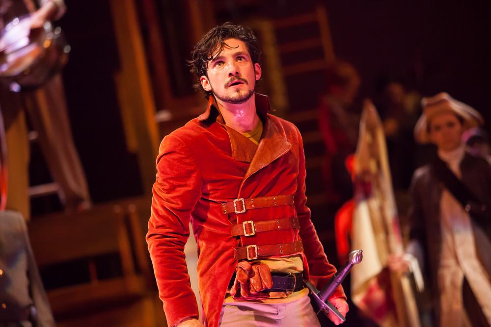 Benjamin Bonenfant as HENRY V at the Colorado Shakespeare Festival.  Production Photographer Jennifer Koskinen | Merritt Design Photo