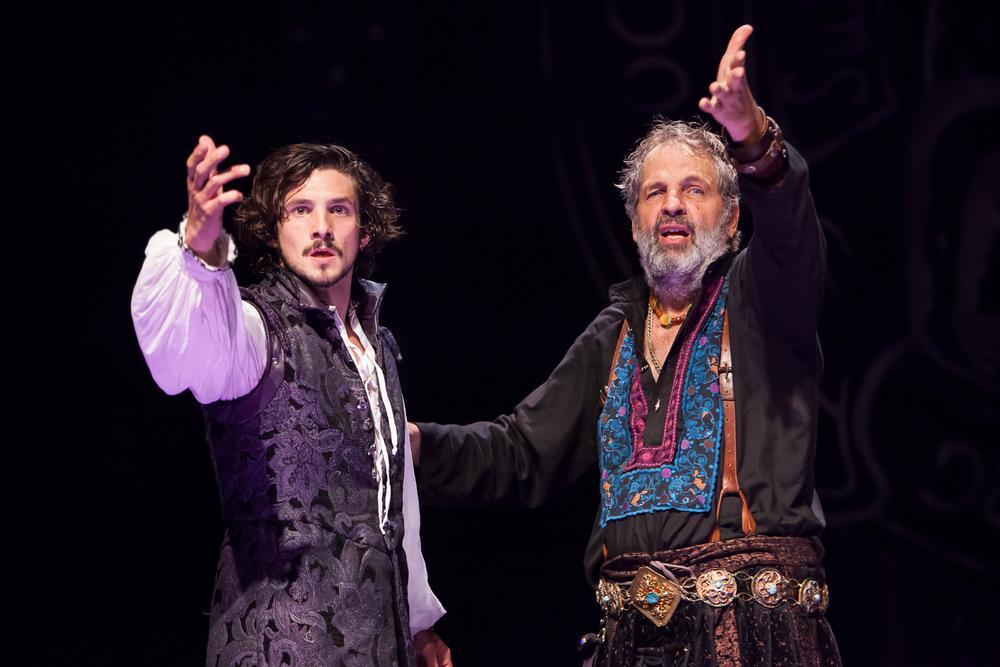 Benjamin Bonenfant and Lawrence Hecht in WITTENBURG at the Colorado Shakespeare Festival.  Production Photographer Jennifer Koskinen | Merritt Design Photo