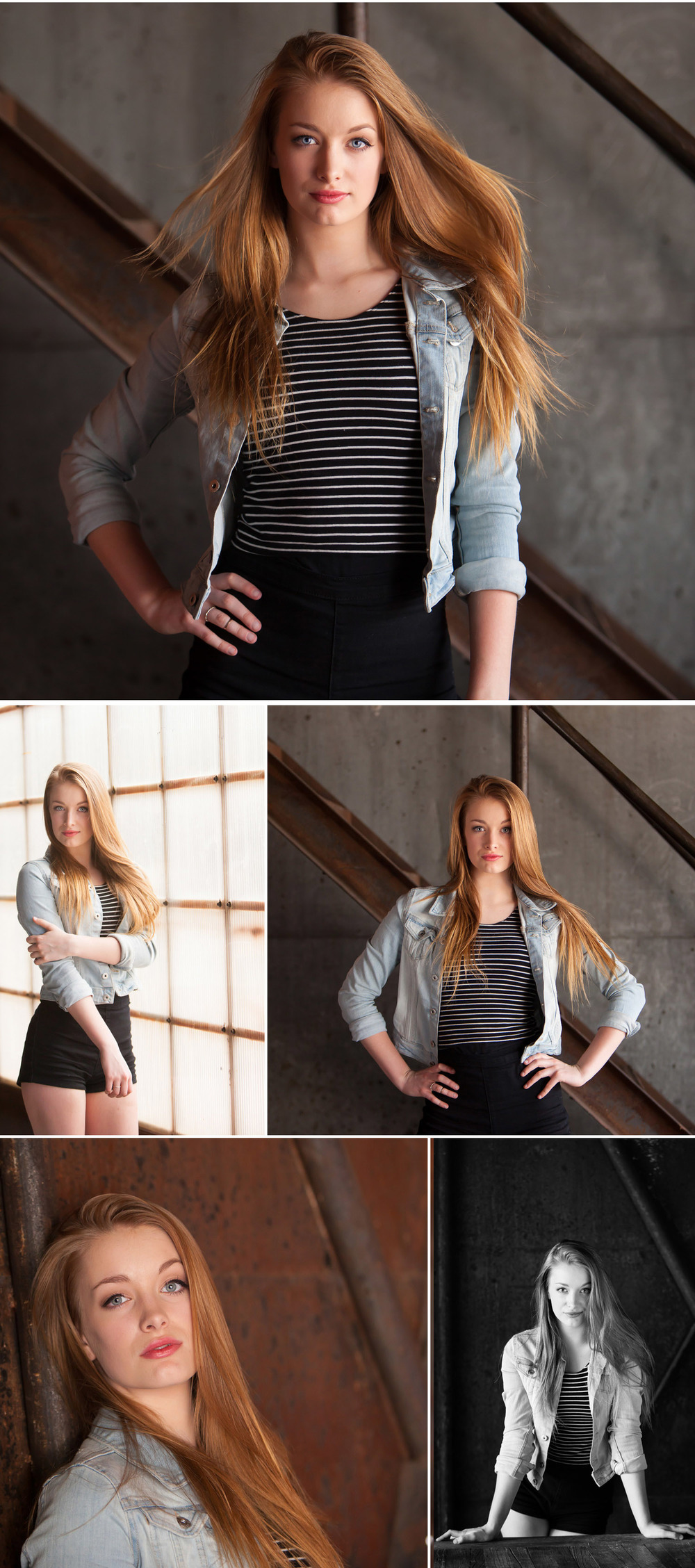 Senior Pictures at industrial warehouse, Blanc in Denver, with portrait photographer Jennifer Koskinen | Merritt Portrait Studio