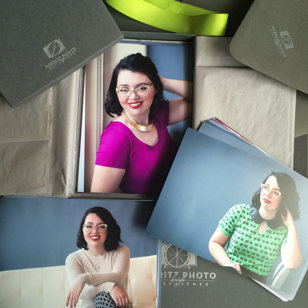 Printed 5x7 proofs and proofing system for in person sales session at Merritt Portrait Studio in Denver.