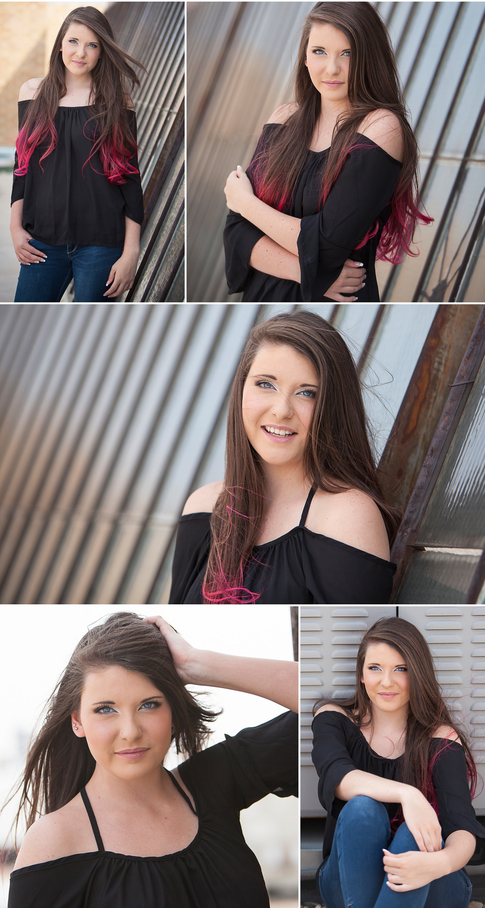 Urban Rooftop Senior Pictures in Denver with Portrait Photographer Jennifer Koskinen | Merritt Design Photo