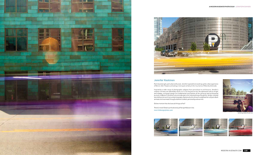 Daytime long exposure photography for Modern in Denver magazine, by photographer Jennifer Koskinen