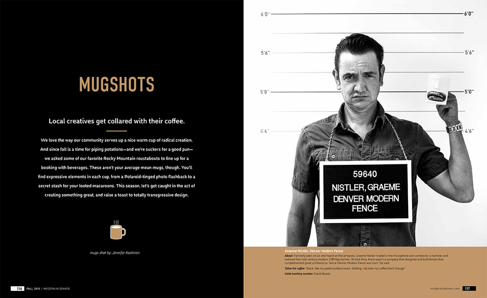 "Designer ""mugshots"" for Modern in Denver magazine, photos by Jennifer Koskinen"
