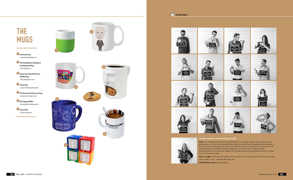 "Designer ""mugshots"" for Modern in Denver magazine, portrait photos by Jennifer Koskinen"