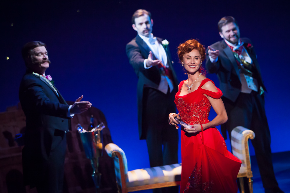 Beth Malone in THE UNSINKABLE MOLLY BROWN at Denver Center Theatre Company. Photo by Jennifer Koskinen | Merritt Design Photo