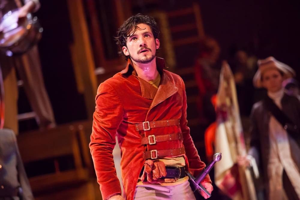 Benjamin Bonenfant in HENRY V at Colorado Shakespeare Festival. Photo by Jennifer Koskinen | Merritt Design Photo