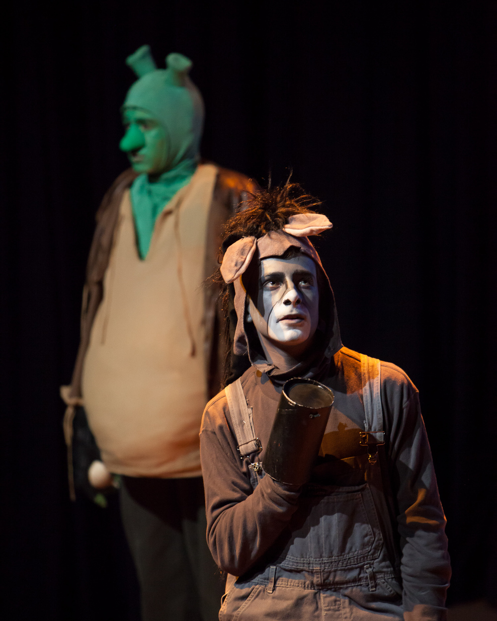 Gabe Koskinen-Sansone in SHREK at Denver School of the Arts. at the Denver Center Theatre Company, photo by Jennifer Koskinen, Merritt Design Photo