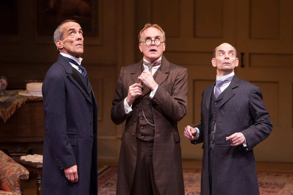 John Hutton, Sam Gregory and Larry Paulsen in WHEN WE ARE MARRIED at Denver Center Theatre Company, photo by Jennifer Koskinen, Merritt Design Photo