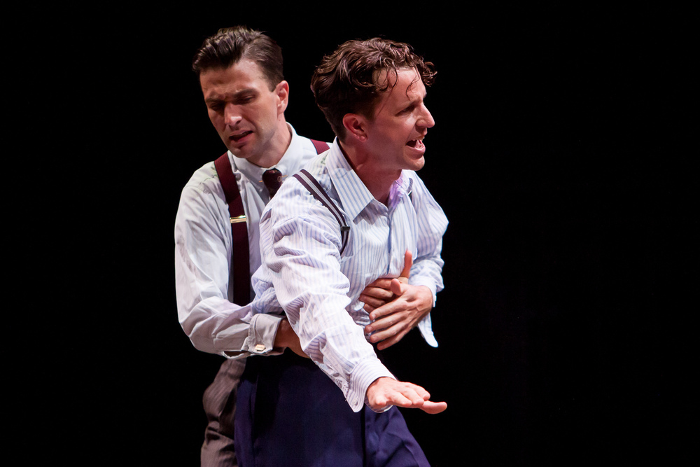 M. Scott McLean and John Patrick Hayden in DEATH OF A SALESMAN at the Denver Center Theatre Company, photo by Jennifer Koskinen, Merritt Design Photo