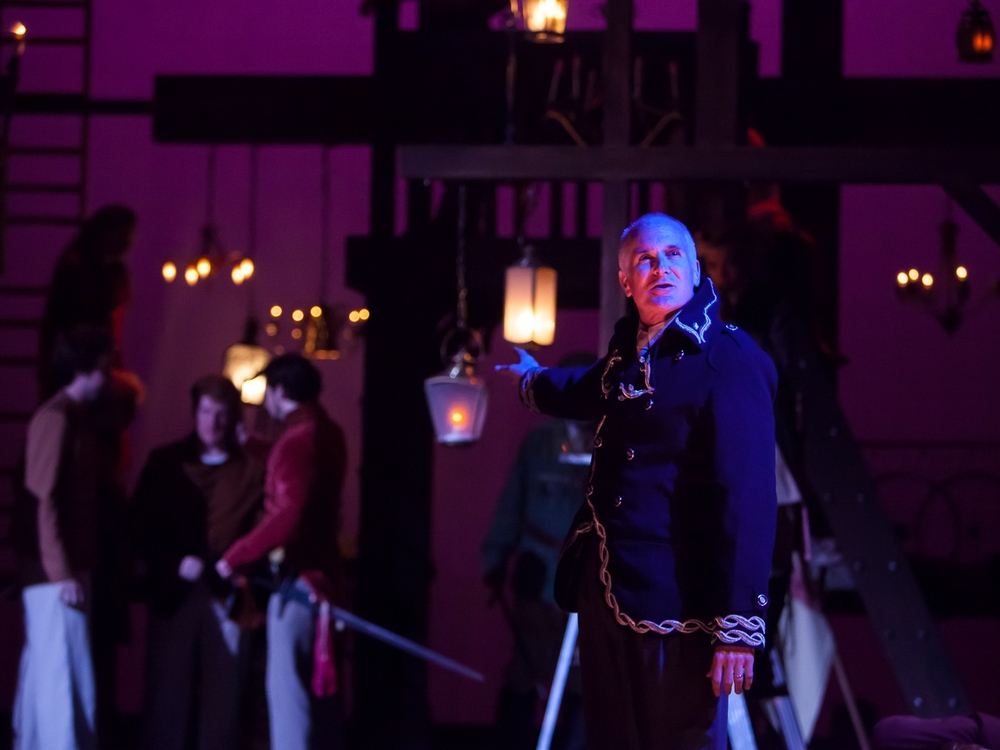 Sam Gregory in HENRY V at The Colorado Shakespeare Festival, photo by Jennifer Koskinen, Merritt Design Photo