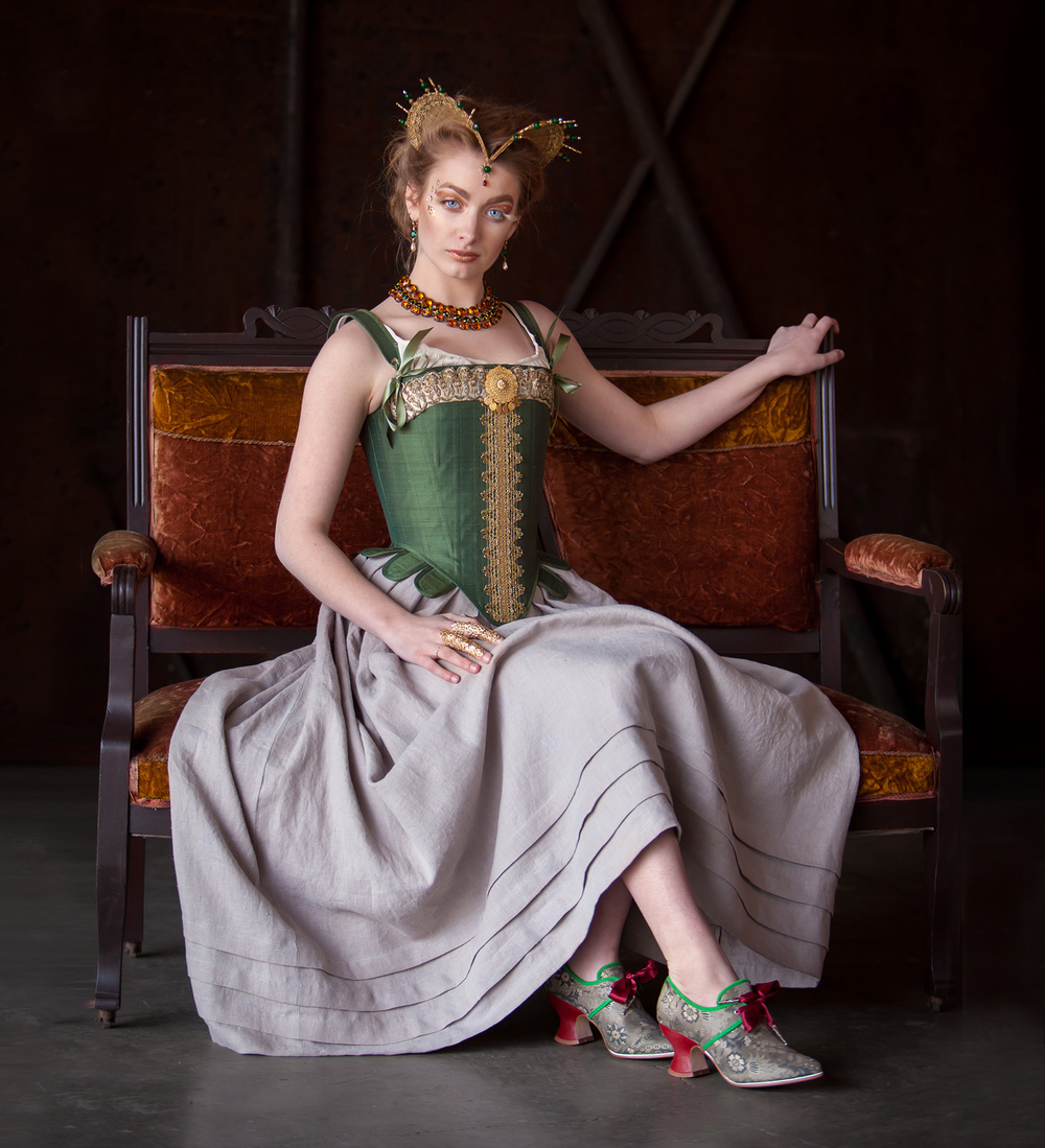 Styled High Fashion Photoshoot for Redthreaded (corset designer) by Denver photographer Jennifer Koskinen, Merritt Portrait Studio