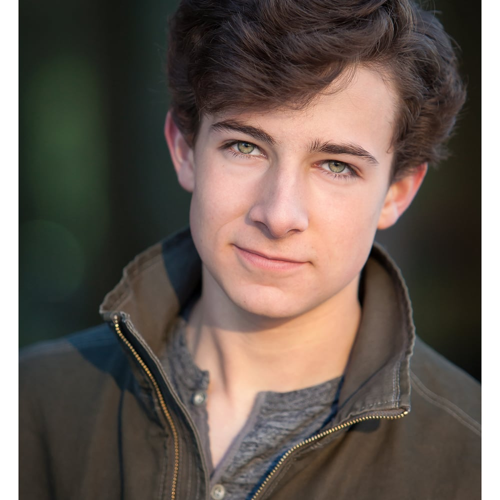 Green eyed young male actor's headshot, by Denver photographer Jennifer Koskinen | Merritt Portrait Studio