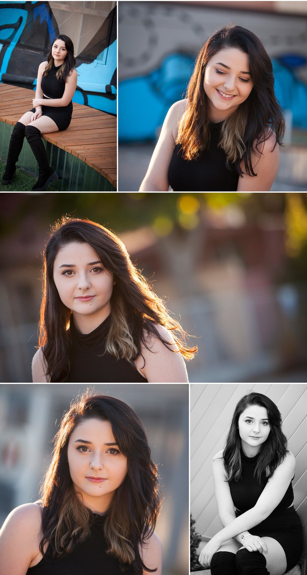 Light filled Senior Portraits in the Santa Fe Arts District of Denver with photographer Jennifer Koskinen | Merritt Portrait Studio