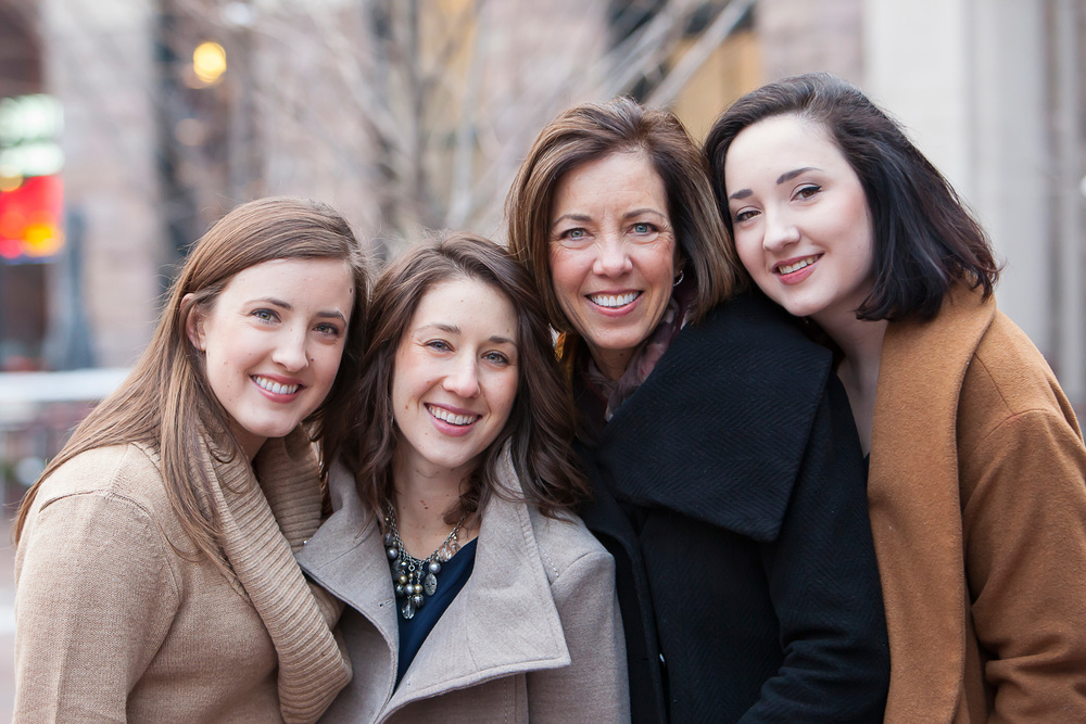 Mother and Daughters Photo with Denver Photographer Jennifer Koskinen | Merritt Portrait Studio