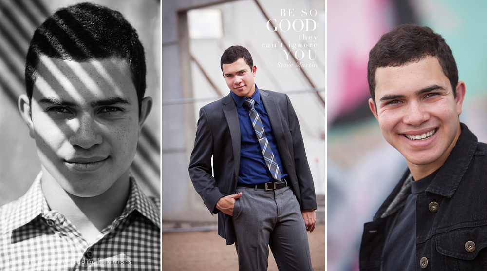 Senior guy photos in interesting urban Denver setting with photographer Jennifer Koskinen | Merritt Portrait Studio
