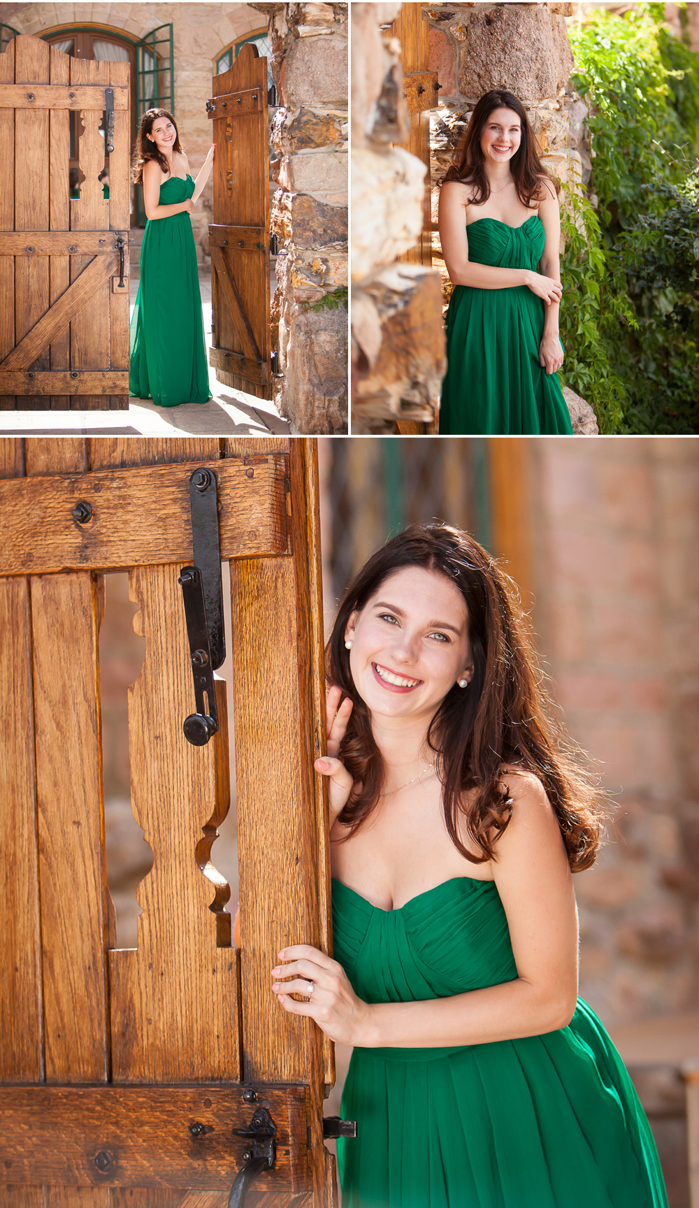 Senior pictures at Cherokee Castle & Ranch south of Denver Colorado, with photographer Jennifer Koskinen | Merritt Portrait Studio