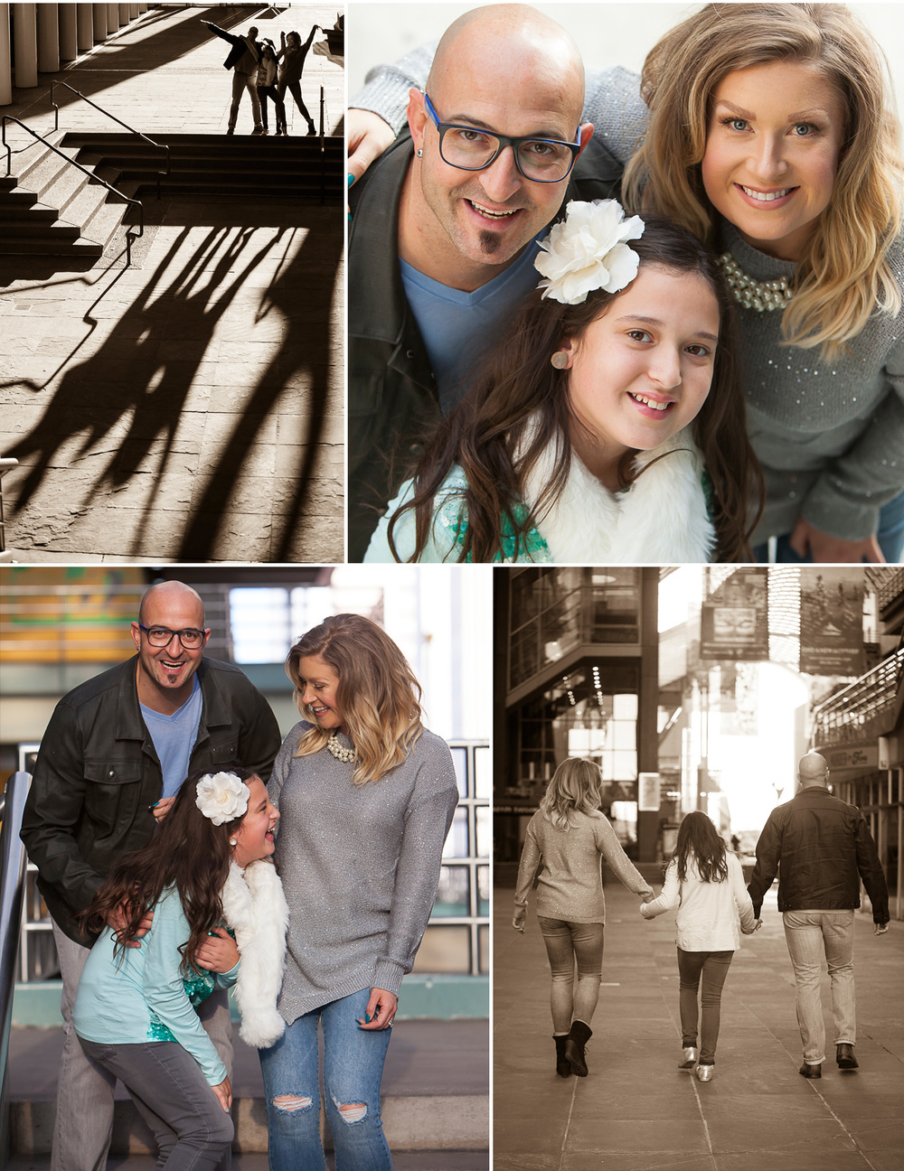 Urban Family Pictures at the Denver Center for Performing Arts with photographer Jennifer Koskinen