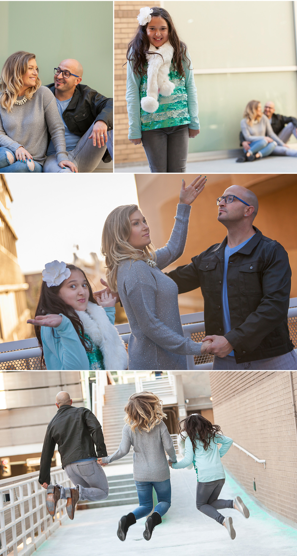 Light hearted and fun family pictures in Denver with photographer Jennifer Koskinen