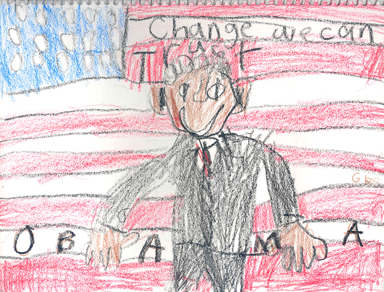 sketch by Gabe Koskinen, age 8