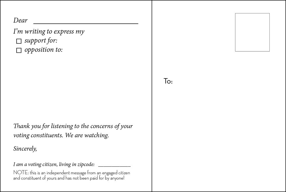 back of postcard, available for download
