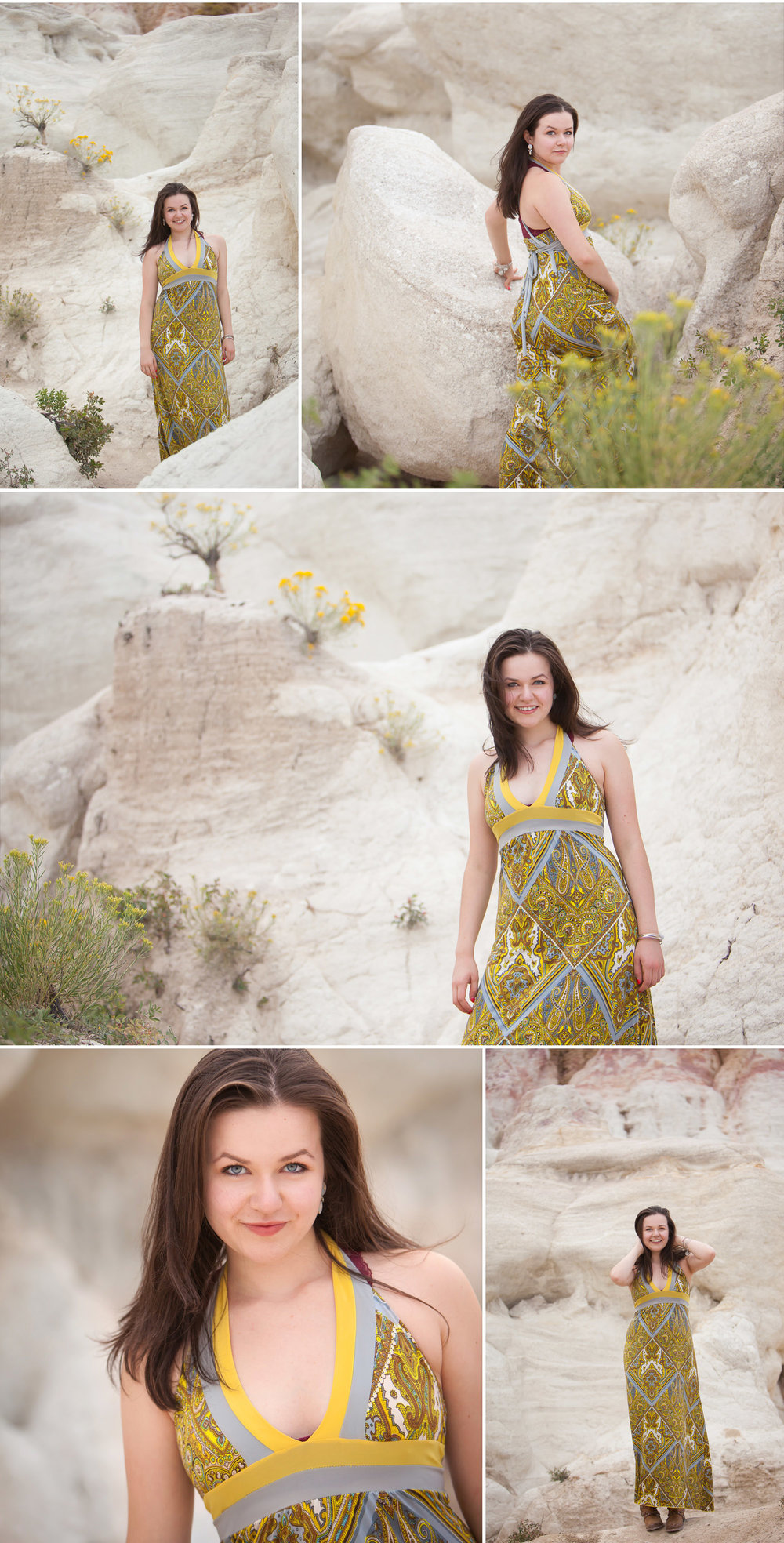 Amazing location for unique senior pictures in sandstone geology near Colorado Springs, with photographer Jennifer Koskinen, Merritt Portrait Studio