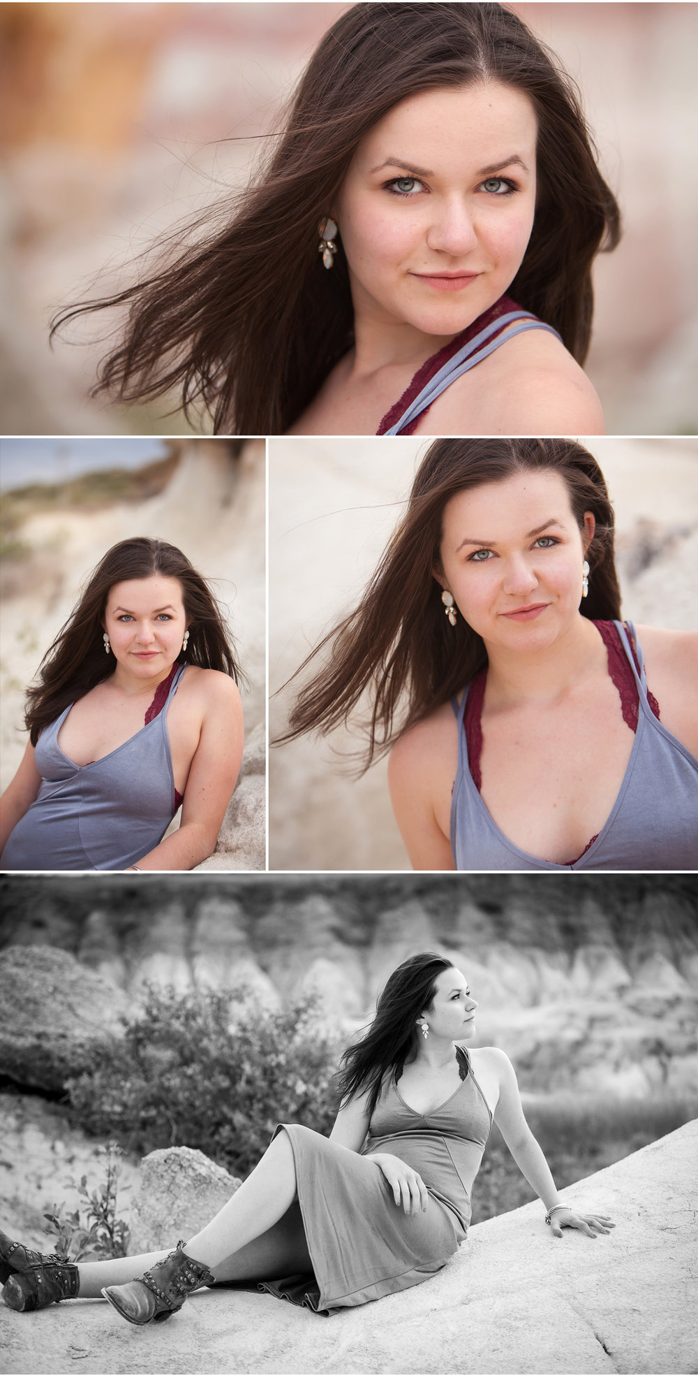 Stunning location for unique senior pictures in sandstone geology near Colorado Springs, with photographer Jennifer Koskinen, Merritt Portrait Studio