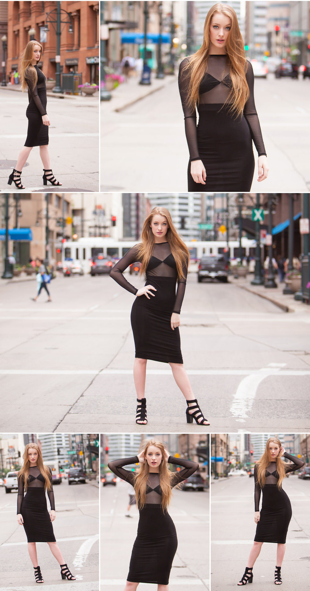 Little Black Dress Fashion Portraits in Denver