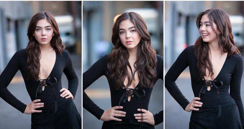 high fashion senior girl pictures in Denver ally, with photographer Jennifer Koskinen, Merritt Portrait Studio