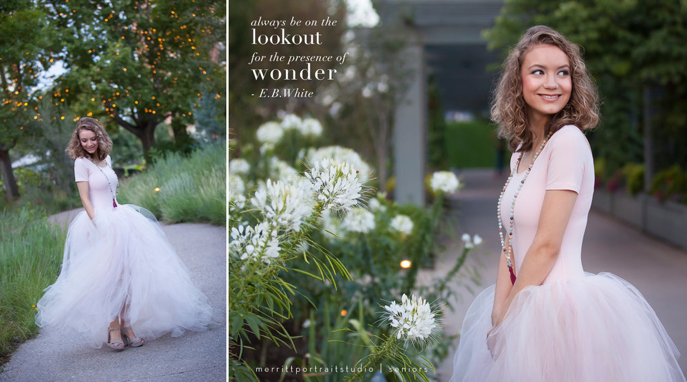Denver Botanic Gardens Senior Session with photographer Jennifer Koskinen