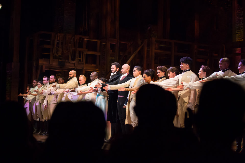 Cast Members from the Angelica Tour of Hamilton perform for the Hamilton Education Program in Denver, Colorado (photo by Jennifer Koskinen)