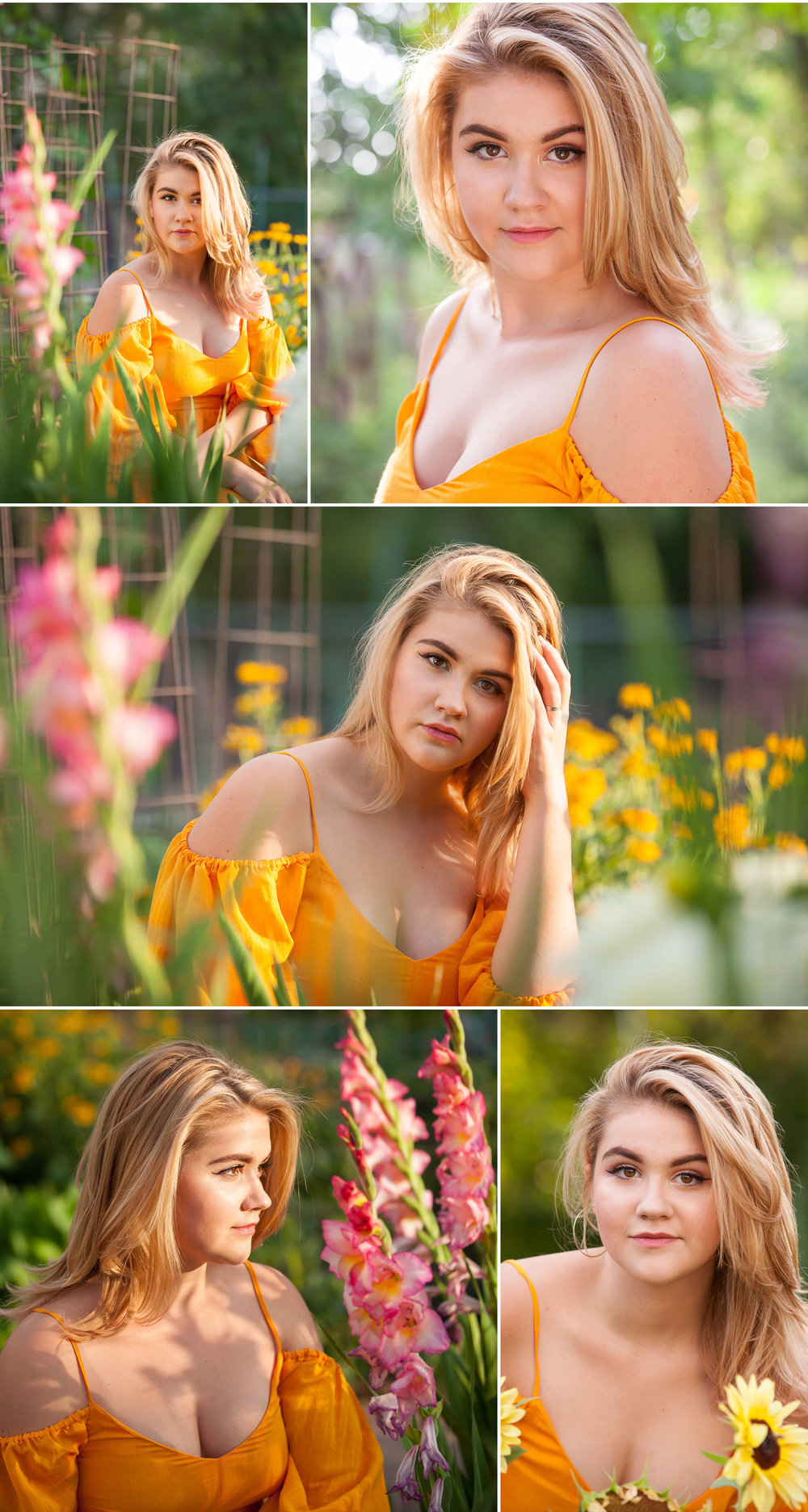 Senior Portraits in summer garden with Denver photographer Jennifer Koskinen, Merritt Portrait Studio