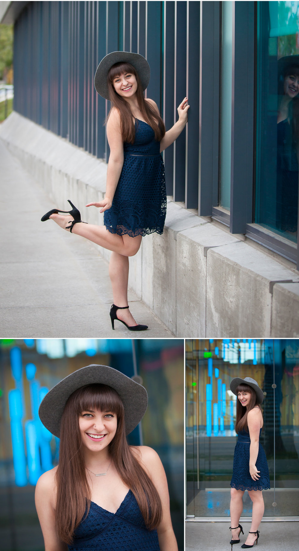 Fashion Inspired Urban Senior Portraits in the streets of Denver's Arts District with photographer Jennifer Koskinen, Merritt Portrait Studio